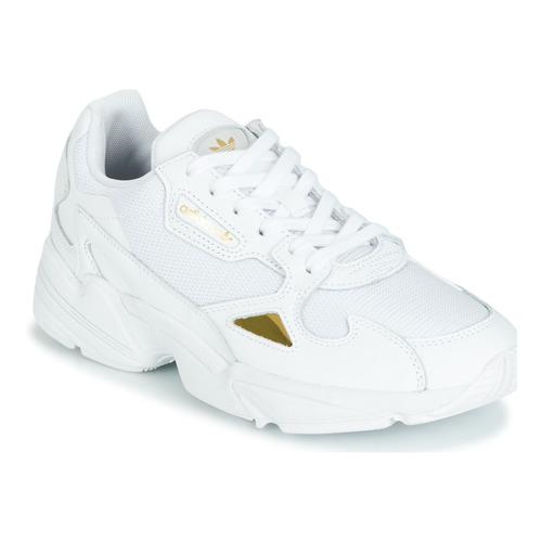 adidas Originals FALCON W Wit / Goud - Schoenen Lage ...