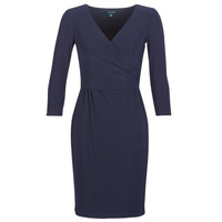 Textiel Dames Korte jurken Lauren Ralph Lauren 3/4 SLEEVE DAY DRESS Marine