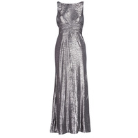 Textiel Dames Lange jurken Lauren Ralph Lauren SLEEVELESS EVENING DRESS GUNMETAL Grijs / Zilver
