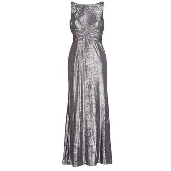 Textiel Dames Lange jurken Lauren Ralph Lauren SLEEVELESS EVENING DRESS GUNMETAL Grijs / Zilver
