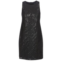 Textiel Dames Korte jurken Lauren Ralph Lauren SEQUINED SLEEVELESS DRESS Zwart