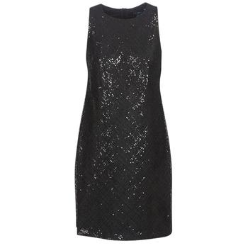 Textiel Dames Korte jurken Lauren Ralph Lauren SEQUINED SLEEVELESS DRESS Zwart