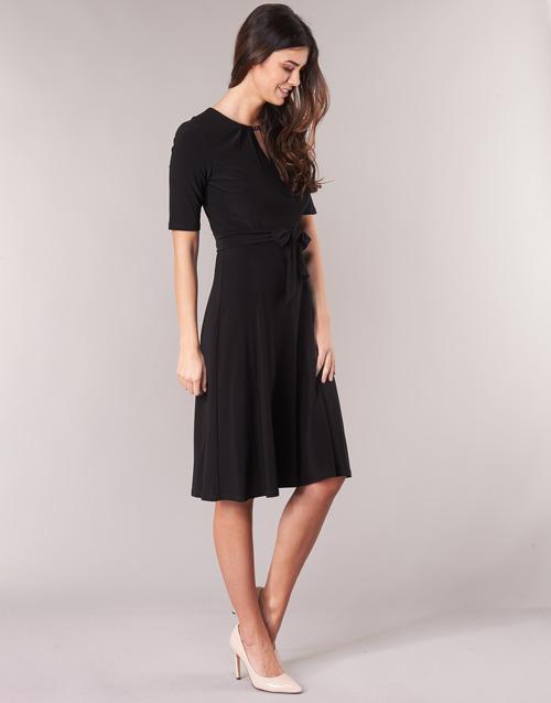 Lauren Ralph 3/4 Sleeve Jersey Day Dress Zwart - Gratis Levering ibUWmr
