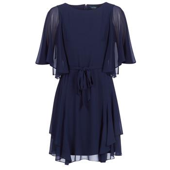 Textiel Dames Korte jurken Lauren Ralph Lauren NAVY-3/4 SLEEVE-DAY DRESS Marine