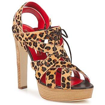 Schoenen Dames Sandalen / Open schoenen Rupert Sanderson BRISE Luipaard