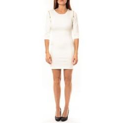 Textiel Dames Korte jurken Vera & Lucy Robe Lucce LC-0228 Blanc Wit