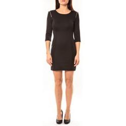 Textiel Dames Korte jurken Vera & Lucy Robe Lucce LC-0228 Noir Zwart