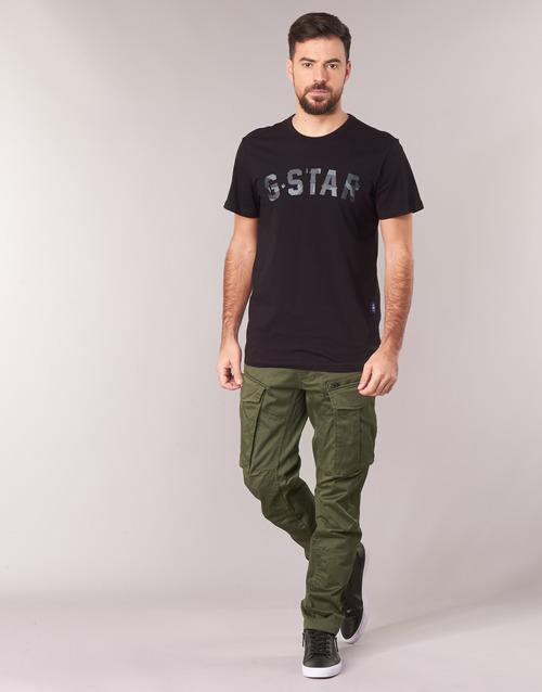 Textiel Heren Cargobroek G-Star Raw ROVIC ZIP 3D STRAIGHT TAPERED Kaki