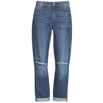 Textiel Dames Boyfriend jeans G-Star Raw 3302 SADDLE MID BOYFRIEND Blauw / Medium / Vintage / Gescheurd