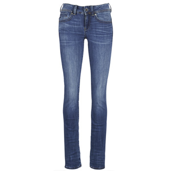 Textiel Dames Straight jeans G-Star Raw MIDGE SADDLE MID STRAIGHT Blauw / Medium / Indigo / Vintage