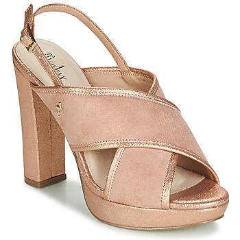 Schoenen Dames Sandalen / Open schoenen Menbur VILLALBA Roze / Goud