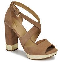 Schoenen Dames Sandalen / Open schoenen MICHAEL Michael Kors VALERIE PLATFORM Camel