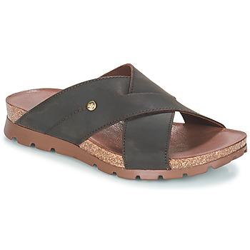 Schoenen Heren Leren slippers Panama Jack SALMAN Bruin