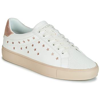 Schoenen Dames Lage sneakers Esprit Colette Star LU Wit / Roze / Goud