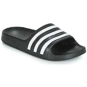 Schoenen Kinderen slippers adidas Originals ADILETTE AQUA K Zwart / Wit