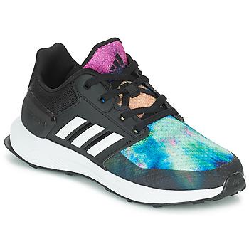 Schoenen Meisjes Running / trail adidas Performance RAPIDARUN X K Zwart