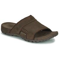 Schoenen Heren Leren slippers Merrell SANDSPUR LEE SLIDE Bruin