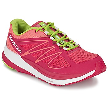 Schoenen Dames Running / trail Salomon SENSE PULSE WOMAN Roze / OranJe / Groen