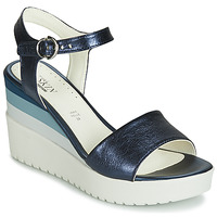 Schoenen Dames Sandalen / Open schoenen Stonefly ELY 7 LAMINATED LTH Blauw
