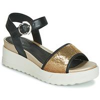 Schoenen Dames Sandalen / Open schoenen Stonefly PARKY 3 NAPPA/PAILETTES Zwart