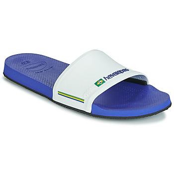 Schoenen Heren slippers Havaianas SLIDE BRASIL Marine / Wit