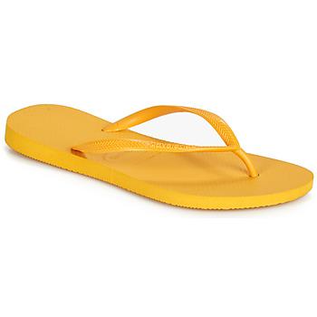 Schoenen Dames Teenslippers Havaianas SLIM Geel
