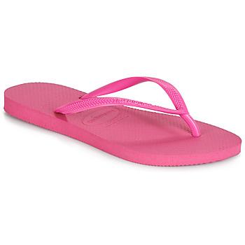 Schoenen Dames Teenslippers Havaianas SLIM Roze