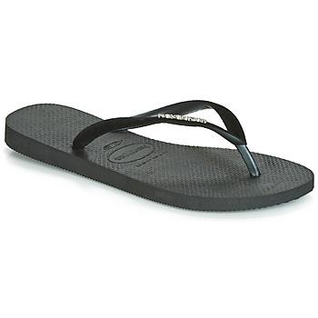 Schoenen Dames Teenslippers Havaianas SLIM VELVET Zwart
