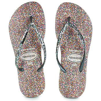 Schoenen Dames Teenslippers Havaianas SLIM CARNAVAL Zwart