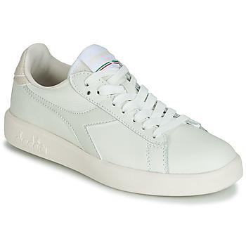 Schoenen Dames Lage sneakers Diadora GAME WIDE Ecru / Grijs