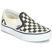 Schoenen Kinderen Instappers Vans CLASSIC SLIP-ON Zwart / Wit