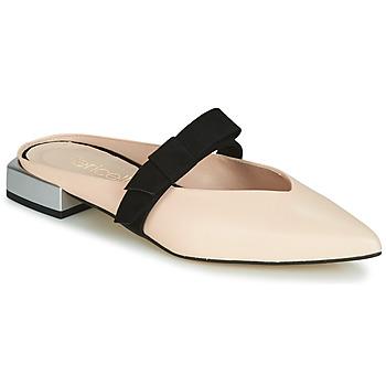 Schoenen Dames Leren slippers Fericelli JOLINETTE Roze