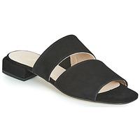 Schoenen Dames Leren slippers Fericelli JANETTE Zwart