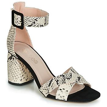 Schoenen Dames Sandalen / Open schoenen Fericelli JEZI Wit / Zwart