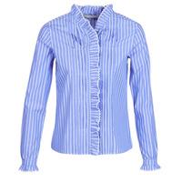 Textiel Dames Overhemden Maison Scotch  Blauw / Clair