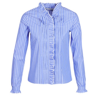 Textiel Dames Overhemden Maison Scotch LONG SLEEVES SHIRT Blauw / Clair