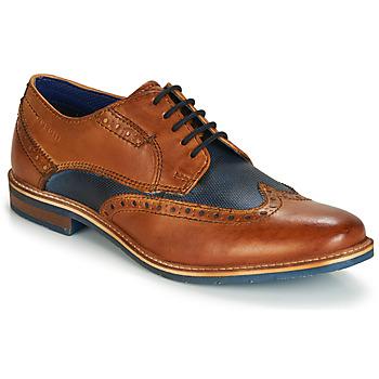 Schoenen Heren Derby Bugatti TROISCINQ Cognac / Blauw