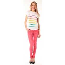 Textiel Dames T-shirts korte mouwen Little Marcel T-shirt E15FTSS0122 Tola Blanc Wit