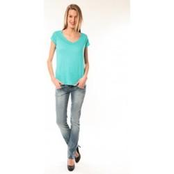Textiel Dames T-shirts korte mouwen Little Marcel T-Shirt Talin E15FTSS0116 Bleu Turquoise Blauw