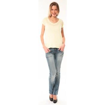Textiel Dames T-shirts korte mouwen Little Marcel T-Shirt Talin E15FTSS0116 Jaune Geel