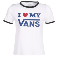 Textiel Dames T-shirts korte mouwen Vans VANS LOVE RINGER Wit