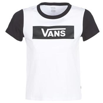 Textiel Dames T-shirts korte mouwen Vans V TANGLE RANGE RINGER Wit