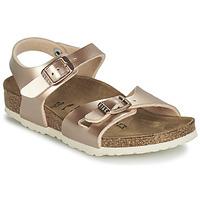 Schoenen Meisjes Sandalen / Open schoenen Birkenstock RIO Goud