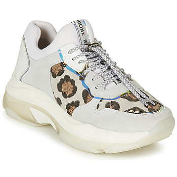 Schoenen Dames Lage sneakers Bronx BAISLEY Wit / Luipaard