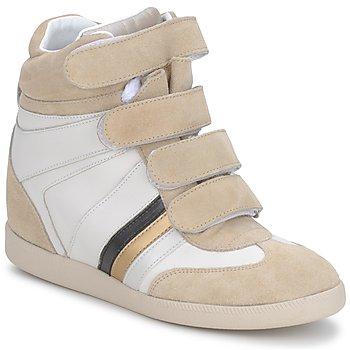 Schoenen Dames Hoge sneakers Serafini MANATHAN SCRATCH Wit - beige - blauw
