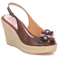 Schoenen Dames Sandalen / Open schoenen C.Petula GLORIA Bruin / Fushia