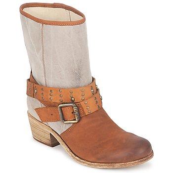 Schoenen Dames Hoge laarzen Ikks INES Bruin / Taupe
