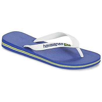 Schoenen Teenslippers Havaianas BRASIL LOGO Wit / Marine