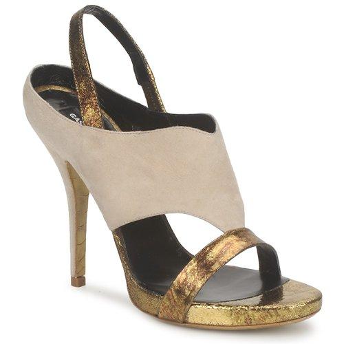 Schoenen Dames Sandalen / Open schoenen Gaspard Yurkievich T4 VAR8 Beige / Goud