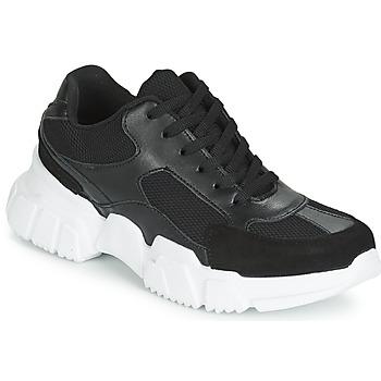 Schoenen Dames Lage sneakers Yurban JILIBELLE Zwart / Wit